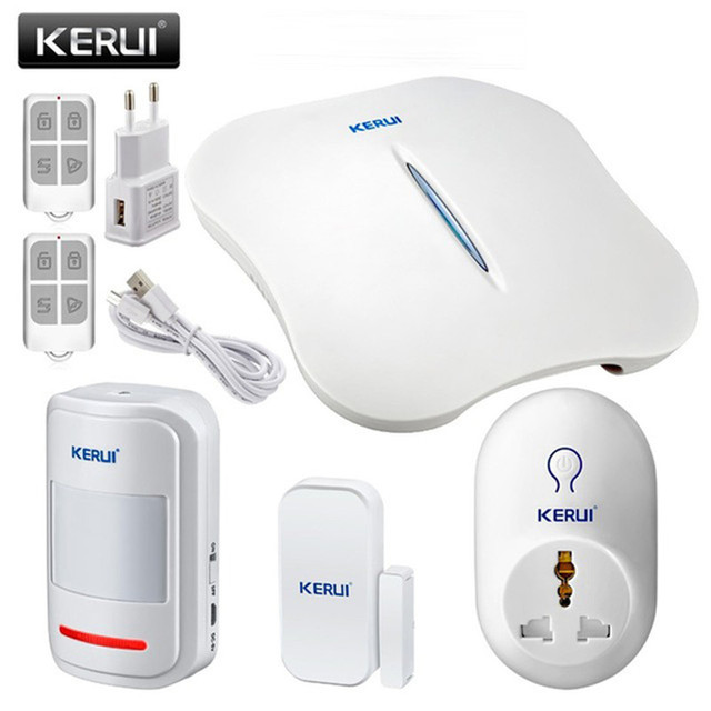 KERUI 2017 NEW style Portable Mini WIFI PSTN home office business voice burglar security alarm system IOS Android APP control
