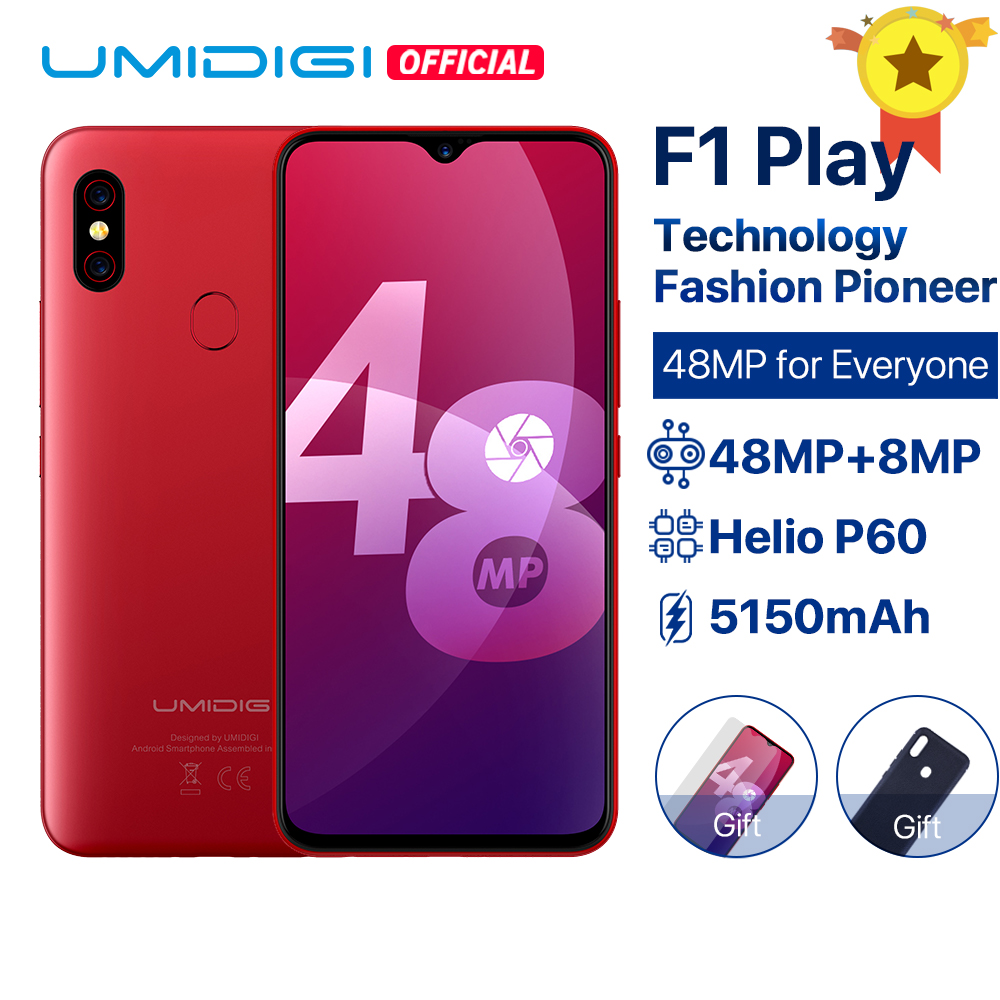 UMIDIGI F1 Play Android 9.0 48MP Super Câmeras 5150 mAh 64 6 GB RAM GB ROM 6.3