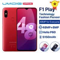 "UMIDIGI F1 Play Android 9.0 48MP Super Cameras 5150mAh 6GB RAM 64GB ROM 6.3""FHD+ Helio P60 Global Version Smartphone Dual 4G 18W"