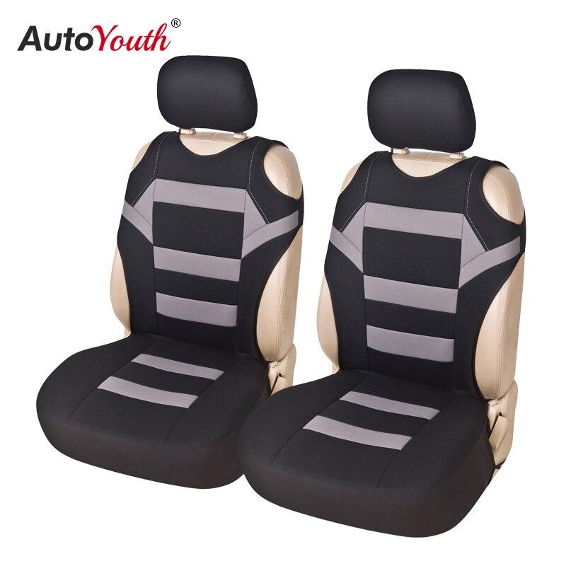 Juego de 2 piezas de diseño de camiseta cubierta de asiento delantero de coche Universal Fit Car Care Coves Protector de asiento para asientos de coche tela de poliéster