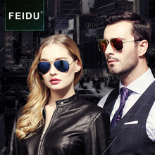 FEIDU Classic Polarized Pilot Sunglasses Men Brand Vintage Women Metal Frame Coating Mirror Sun glasses For Men Driving Eyewear
