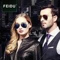 Feidu clássico Polarized Sunglasses piloto homens marca das mulheres do Vintage armação de Metal revestimento de espelho óculos de sol para homens óculos de condução
