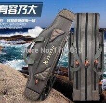 High Quality 80cm 90cm 100cm 120cm Fishing Bags Fishing Pole Lure Bags Two/Three Layer Fishing Rod Bag Fishing Tackle Bags