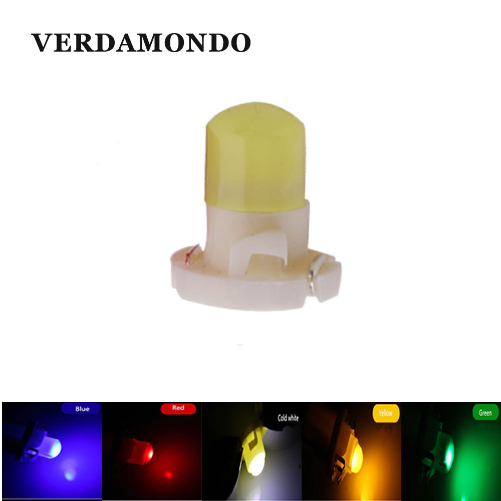 T4.2 Car Led Dashboard Warning Indicator Light COB Bulbs Warning Indicator Lamp Car-styling DC 12V White Blue Red Yellow Green