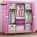 Family background than simple wardrobe folding wardrobe nonwoven get 2 drawers R28-4S