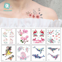 Latest FC Series 2019 Beauty Water Color Tattoo With Seaworld Magnolia Unicorn Butterfly Body Temporary Fake tatoo Sticker.