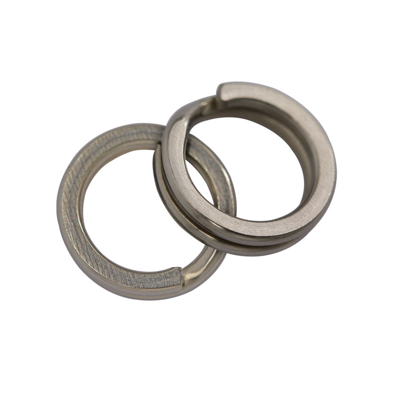 50pcs Stainless Steel Split Rings For Crank Link Double Circle Fishing Round Rig Connector Open Tool Tackle Accessories 2056-2