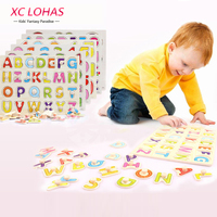 30 22cm Wooden Puzzle Alphabet Number And Shape Baby Learning Toys Kids Wood Jigsaw Toy Children
