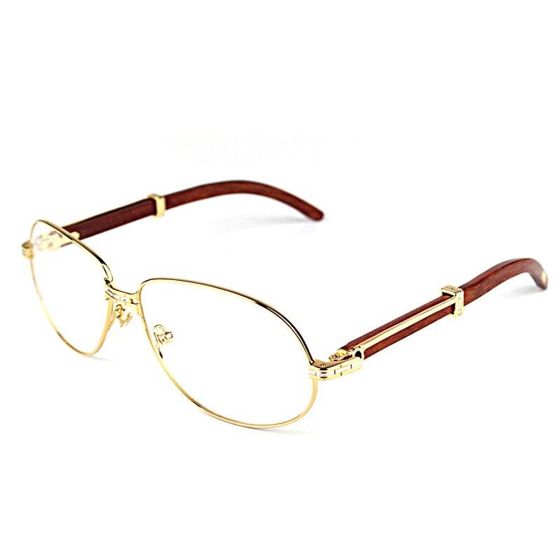Vintage lunettes de Soleil En Bois Hommes De Mode Bois Lunettes Accessoires Clair Lunettes En Métal Cadre Femmes Shades Hommes pour Club Beach Party