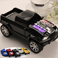 Forma truck car mini sem fio bluetooth speaker led luz do flash usb Cartão SD TF FM Estéreo Mãos Livres Do Carro Modelo de Alto-falantes MP3 Player