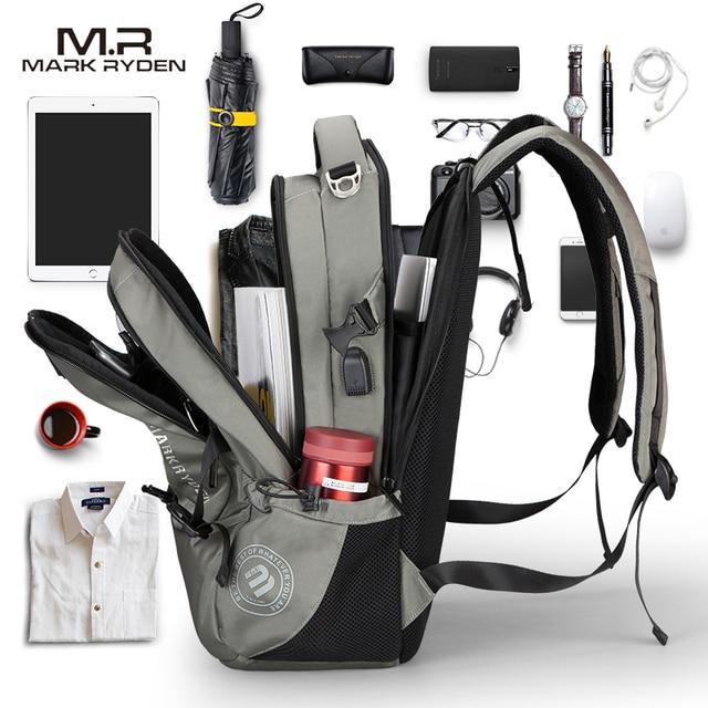 Mark Ryden Men's Backpack Fashion Multifunction USB Charging Men 15inch Laptop Backpacks Bisiness Bag For Men 1