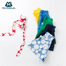 Mini Balabala Toddler Girl 100% Cotton Shorts with Detachable Strap Children Kids Short Pants with Elastic Waist Summer Pants(China)