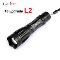 2017 Super Bright LED Flashlight CREE XM L2 8000LM Lumens Zoomable T6 LED Torch Lantern Waterproof