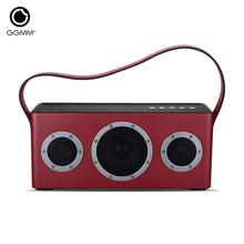 GGMM WiFi Wireless Bluetooth Speaker Stereo System Super Bass Portable Wooden Speakers Subwoofer Audio Receiver MP3