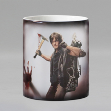 The walking dead zombie coffee mugs heat Color changing tea cup Magic Mug gift Daryl was here new design