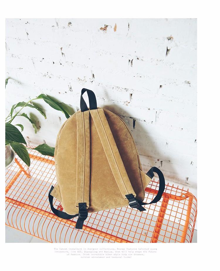 2016 New Women Backpack Preppy Style Suede Backpacks Teenage Girls School Bags Vintage Rivet Travel Backpack Burgundy Gray Black (54)
