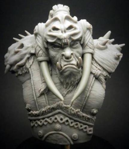 US $14 15 |1/12 54mm Fantasy 54mm Orc Bust toy Resin Model Miniature Kit  Unassembly Unpainted -in Model Building Kits from Toys & Hobbies on