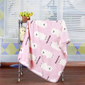 2016 10-12 Months Real Promotion Animal Baby Blanket Swaddle Spring Flannel Air Conditioning Newborn Bed Sheet Soft 100*75cm