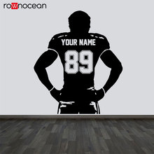 Personalized Team Name And Number Football Decal Play Vinyl Wall Sticker Home Deocr For Kids Room Teens Bedroom Custom 3Y29