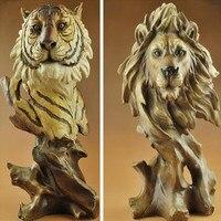 Animal Sculpture Crafts, Wolf, Horse, Eagle, Tiger, Lion