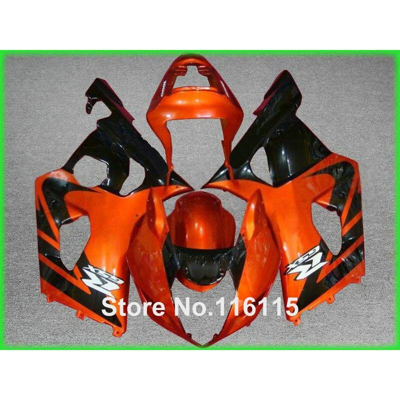 Abs motorcycle parts for suzuki injection gsxr 1000 k3 k4 2003 2004 copper black fairing kit gsxr1000