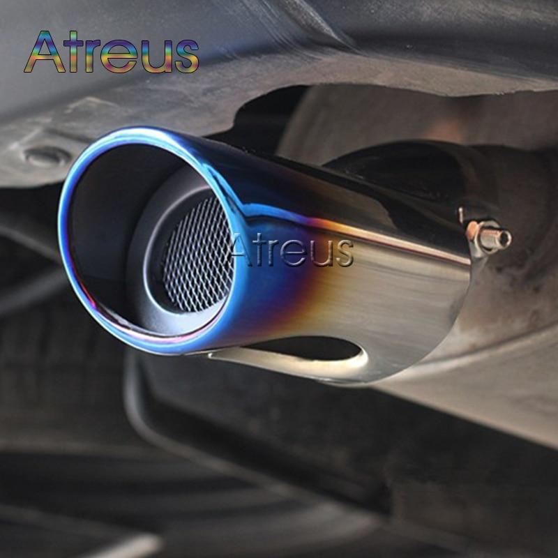 Auto Auspuff Rohr Für K2 RIO Ford Focus 2 Focus 3 Mitsubishi Outlander 2013 2014 2015 2016 Schalldämpfer Schmücken zubehör