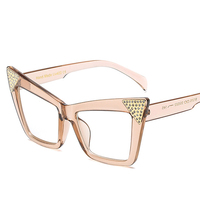 Nowe Mody Ramka Okulary Kobiety Cat Eye Okulary Marka Projektant Vintage Clear Lens Okulary Rama UV400 MA152