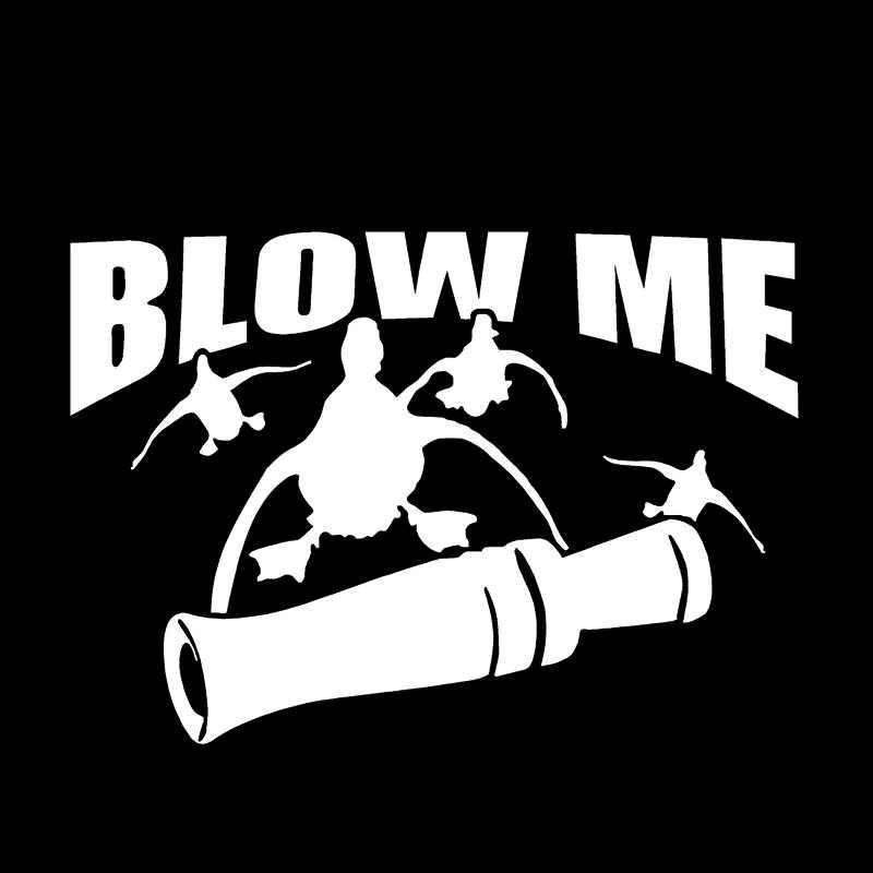2017 Горячая продажа выдувная утка охотничья Наклейка Окно автомобильный аксессуар наклейка Jdm