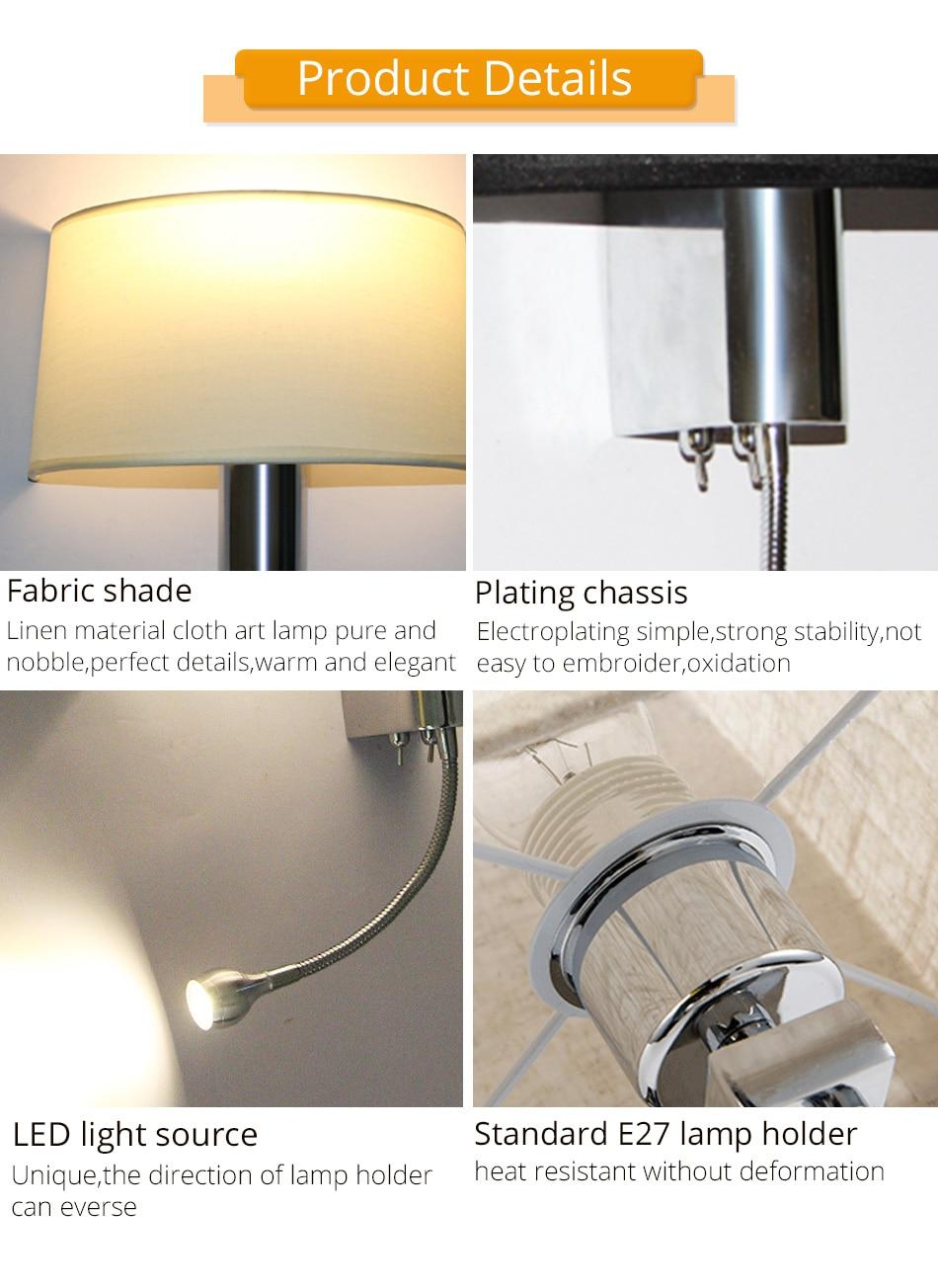 E27 Wall Lamp Modern Lighting Luminaires Bathroom Living Room Hotel Bedroom Loft Decorative Sconce Night Lighting LED Wall Light (8)