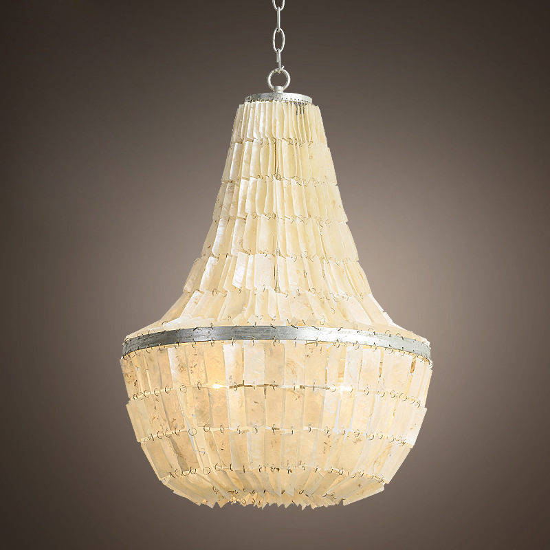 American style garden natural shell pendant light  bedroom lights restaurant lights study decorative lamps living room lights oversized living room 36 inch shell lamps rich natural mediterranean flower garden hotel lobby lights pendant lights wwy 0363