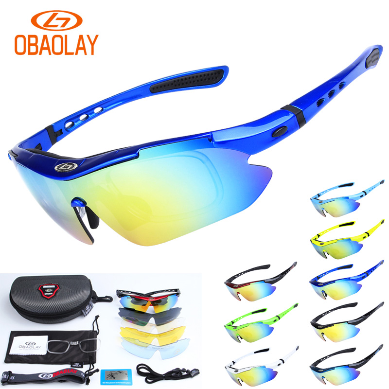 5 lens UV400 Protection Polarized Tactical Glasses with myopia frame for airsoft shooting camping hiking sport glasses