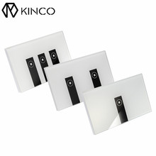 KINCO US 1/2/three Gang AC90-250V Tempered Glass Wi-fi WIFI Distant Management Sensible House Contact Sensor Swap Panel for Sensible Cellphone