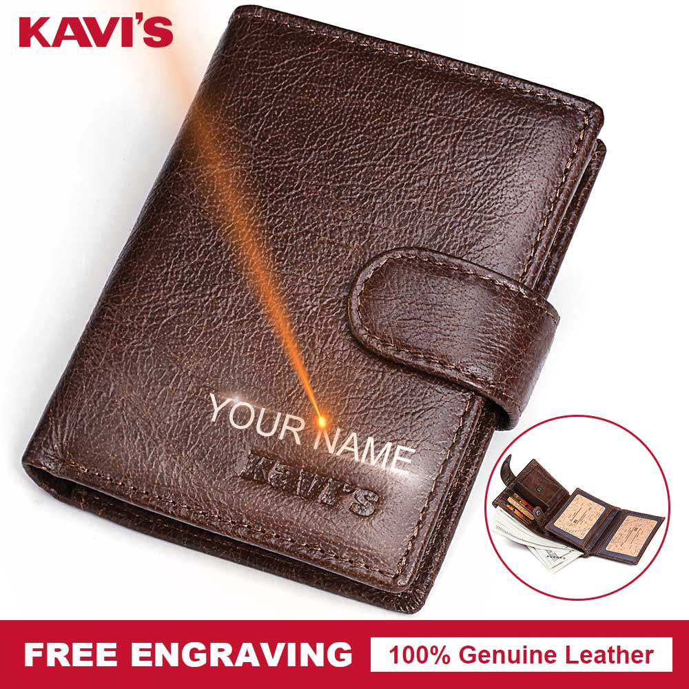 KAVIS Small Genuine Cow Leather Men Wallet Coin Purse Portomonee Walet PORTFOLIO Slim Gift For Male Cuzdan Card Holder Pocket цена 2017