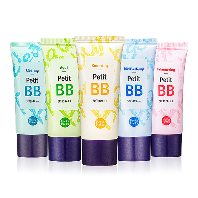 HOLIKA HOLIKA Petit BB Cream 30ml 8 Type Foundation Base BB CC Cream Perfect Cover Concealer Holi Pop BB Cream Korea cosmetic