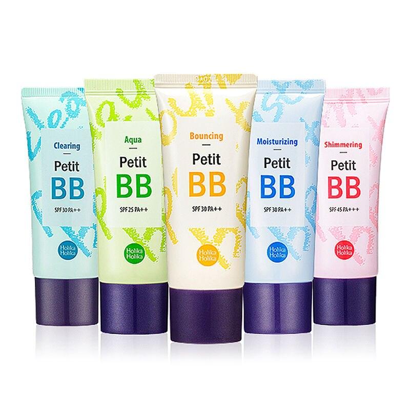 HOLIKA Petit BB crema 30 ml 8 tipo Fundación Base BB CC crema perfecto cubierta corrector Holi Pop BB crema cosméticos Coreanos