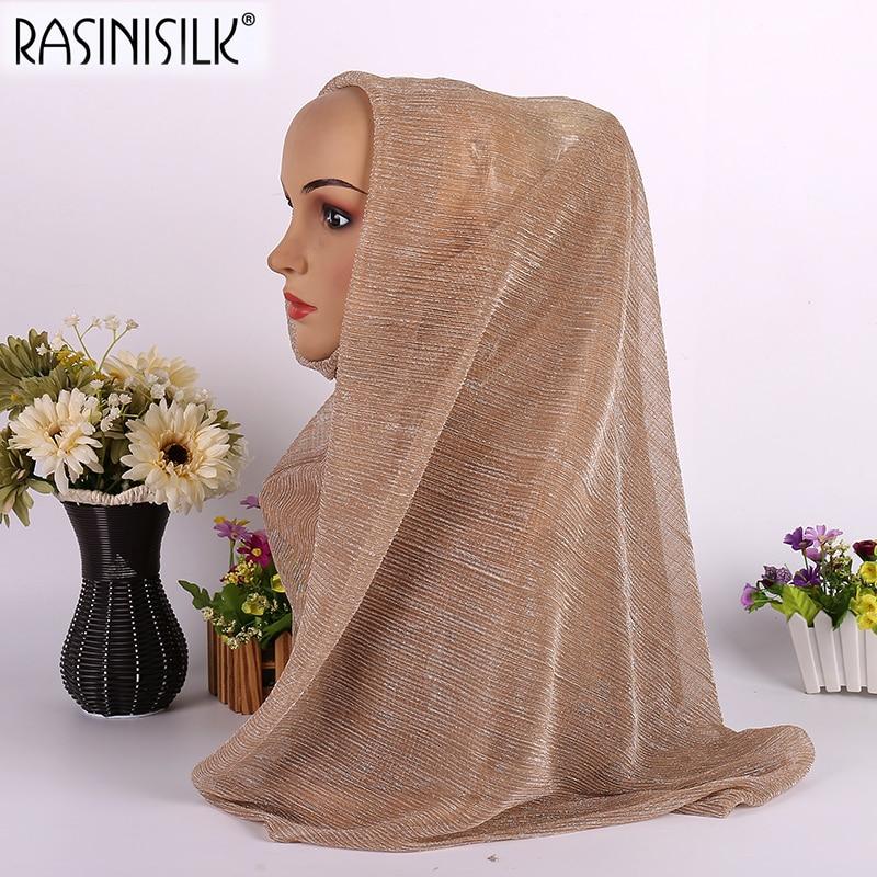 70 * 180cm-es muszlim divat Exquisite sál Hijab selyem nyomtatás - Ruházati kiegészítők