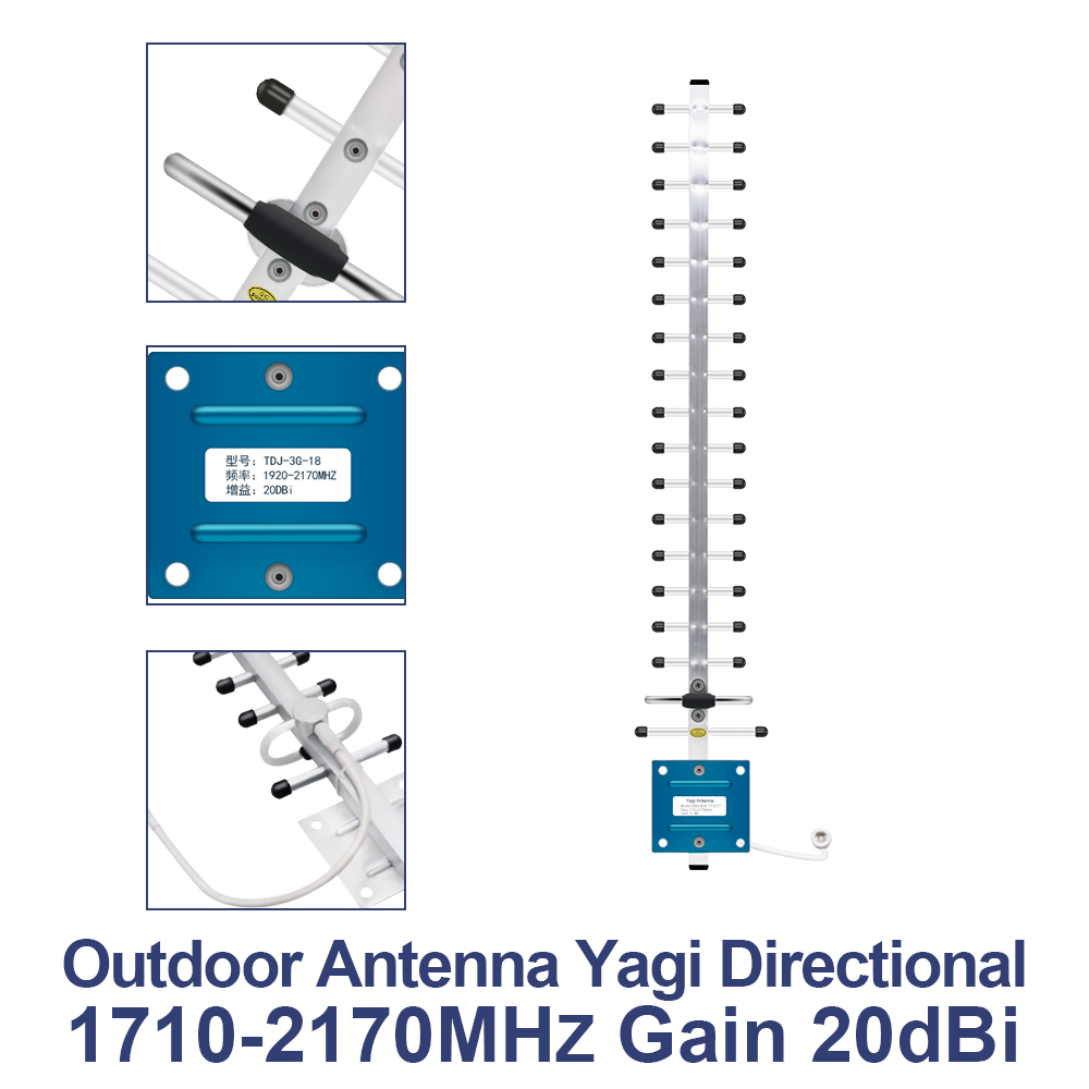 Image 4 - GSM LTE 1800 LCD 70dB 2g 4g Cell Phone Signal Repeater DCS 1800MHz Mobile Amplifier GSM  + Yagi /Panel Antenna-in Communications Antennas from Cellphones & Telecommunications
