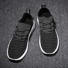 Oeak Knitting Men Vulcanize Shoes New Sneakers Breathable Casual 2019 Male Air Mesh Lace Up Shoes Tenis Spring Adult Trainer 44