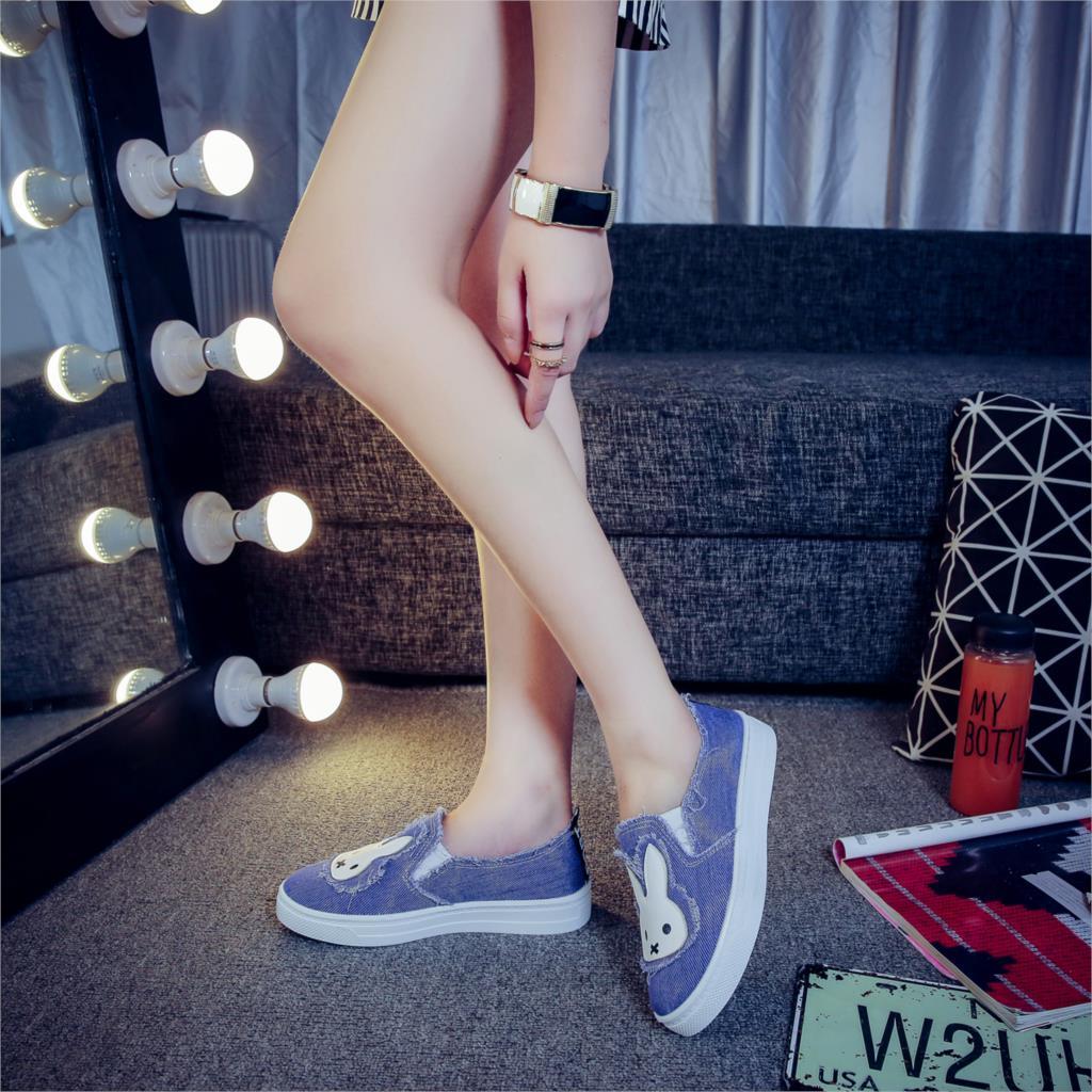 Haute 2002dl 2001f Qualité Appartements Femmes Casual Étudiants Chaussures De 2002l 2002f Lapin Jeans Respirant Mode Souples Toile Nouveaux Semelles aaUwr