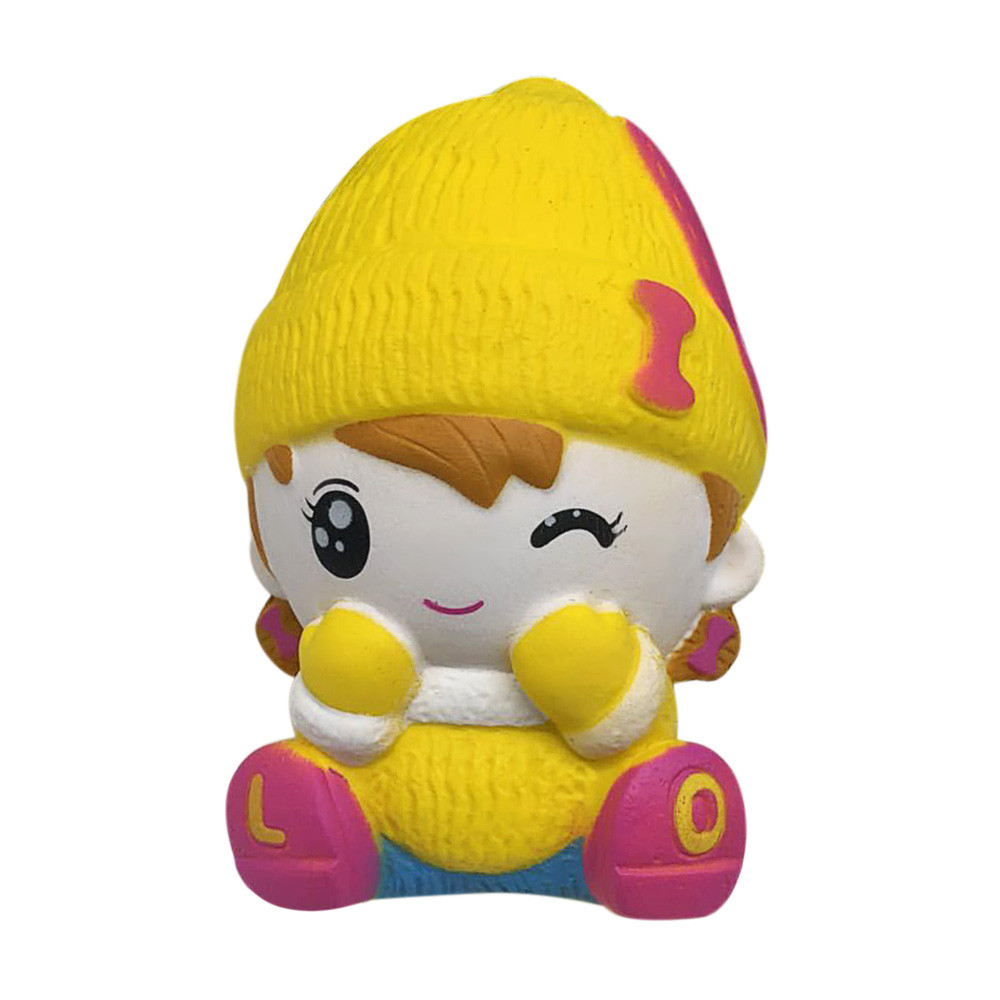 HIINST 2018 Squeeze Cute Girl Squishy Slow Rising Whoopee Cushion Rubber Phone Strap Toy May30 W20d30 Drop Ship