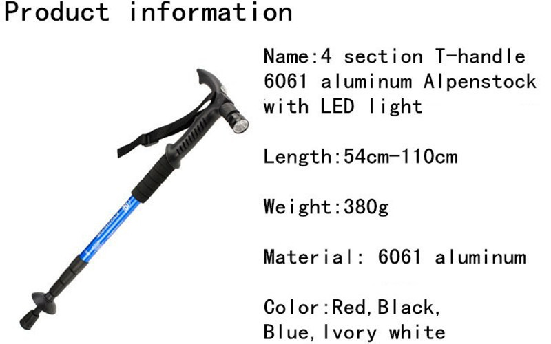 0a045e53a68 Telescopic Walking Stick for Elderly Old Men Walking Cane with led ...