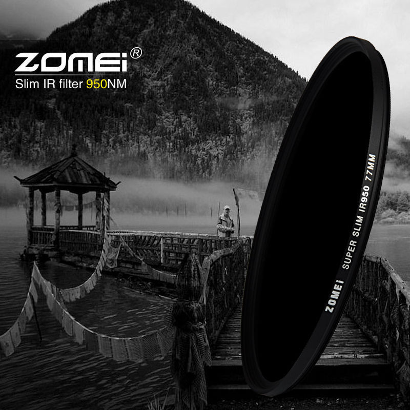 Zomei Infrared IR filter 680nm 720nm 760nm 850nm 950nm IR filter 37mm 49mm 52mm 58mm 67mm 72mm 82mm for SLR DSLR camera lens massa cross screen star filter for slr cameras 72mm