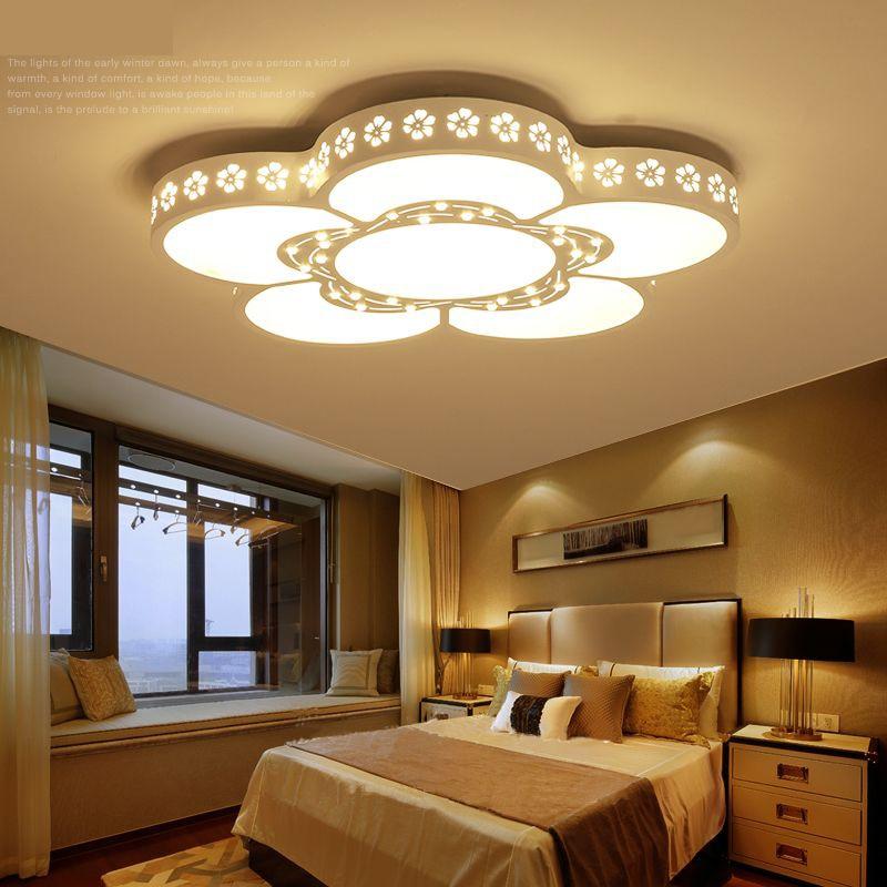 Remote Control Living Room Bedroom Modern Led Ceiling Lights Shade Smart Home Dimming Lamp Avize