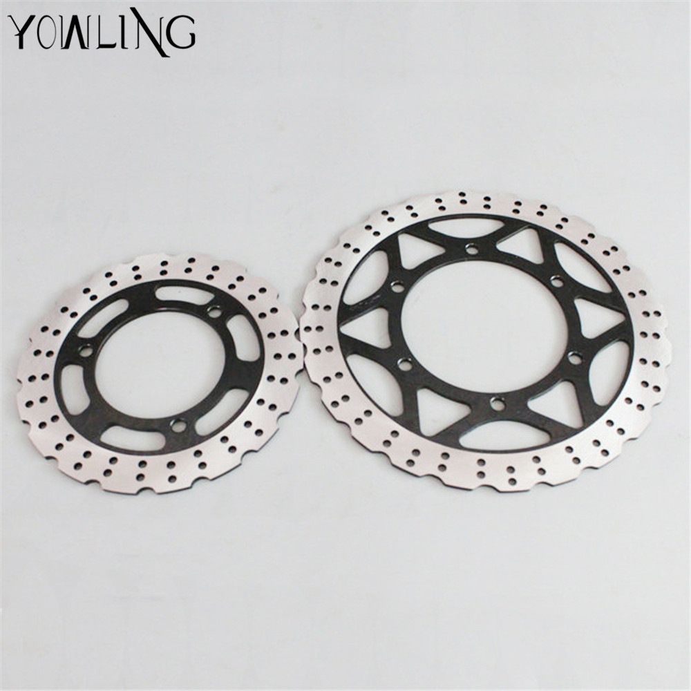 CNC Front Brake Disc Brake Rotors for KAWASAKI NINJA250 NINJA 250 EX25R 2008 2009 2010 2011 2012 1Pair Front Brake Disc Rotors 8 colors universal for kawasaki ninja 250 2008 2009 2010 2011 2012 motocross clutch brake master cylinder reservoir levers cnc