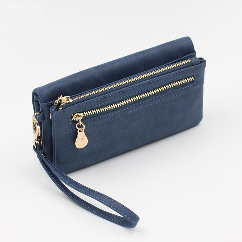 2018 Hot Sale Fashion Women Wallets PU Leather Wallet Female Long High Capacity Double Zippers Clutch Coin Purse Ladies Wristlet 2015 hot sale free shipping 8 colors wallet women wallets new fashion solid female wallet women clutch women coin purse qb 030