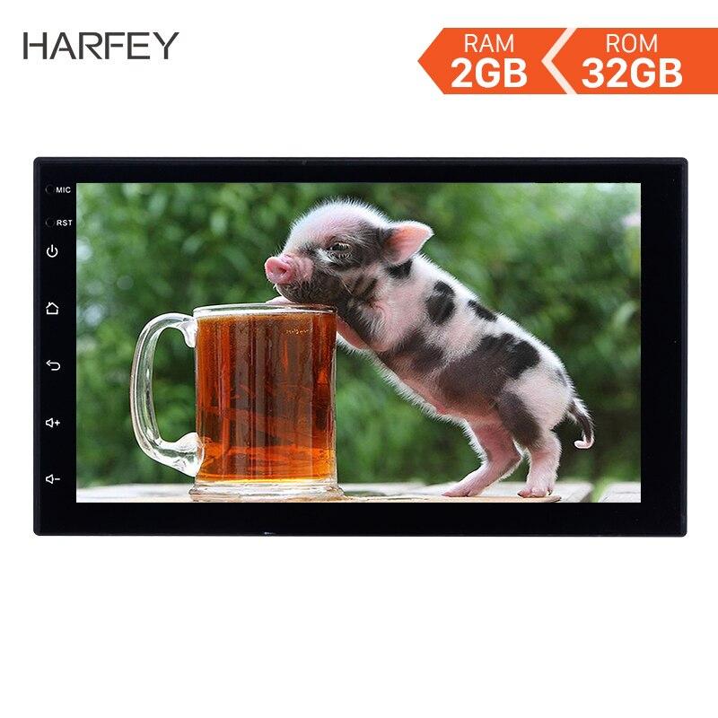 Harfey 2Din universel RAM 2GB + ROM 32GB GPS autoradio 7 pouces Android 8.1 lecteur d'unité multimédia pour VW Nissan Kia autoradio
