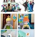 Disney Congelado Elsa Castillo Modelo Kits de Construcción Puzzle Toy Bricks chica Mega Bloques para Niños Juguetes de Bloques de Construcción de Bebé de Navidad regalo