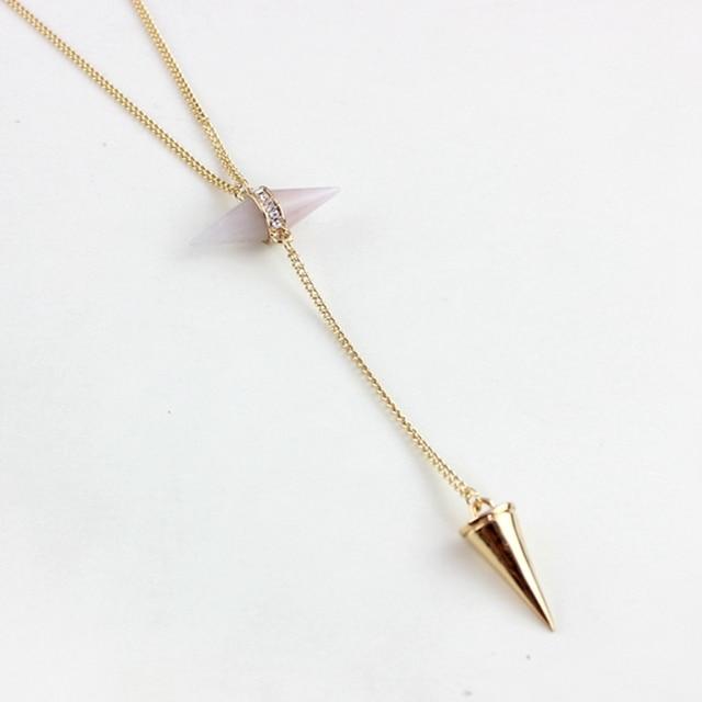 Ожерелье chicvie для женщин Длинные конические ожерелья и подвески