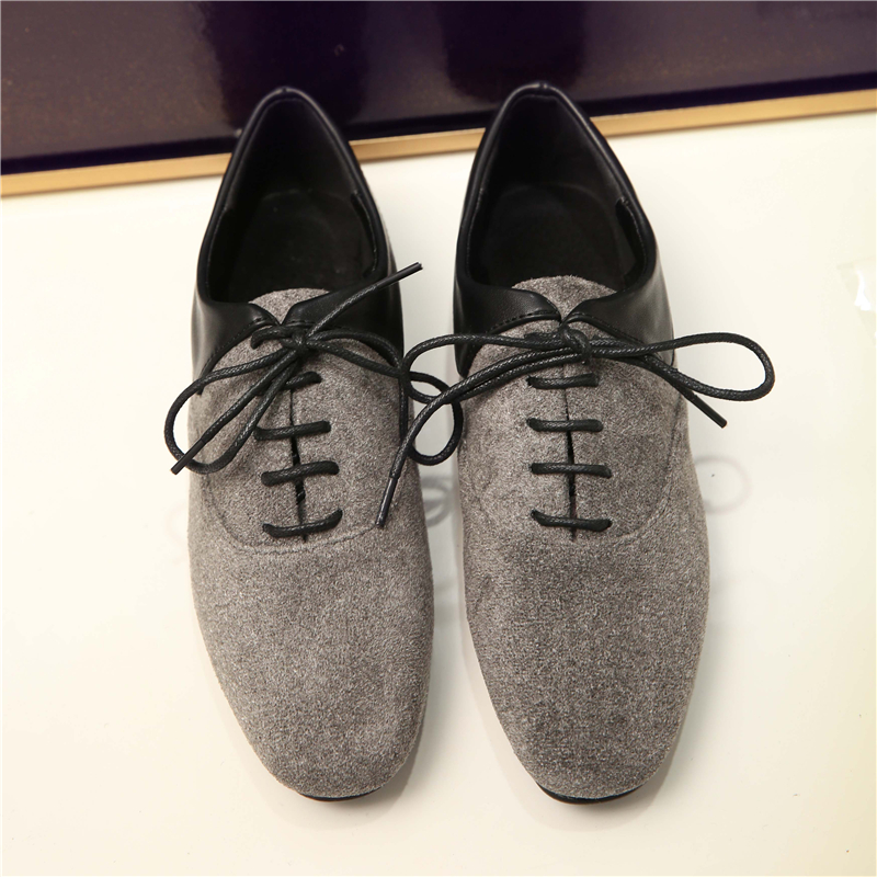 ФОТО 2017 Spring Autumn Luxury Brand Fashion England Retro Women Oxford Shoes Women Leisure and comfort Flat Bottom Ladies Shoes