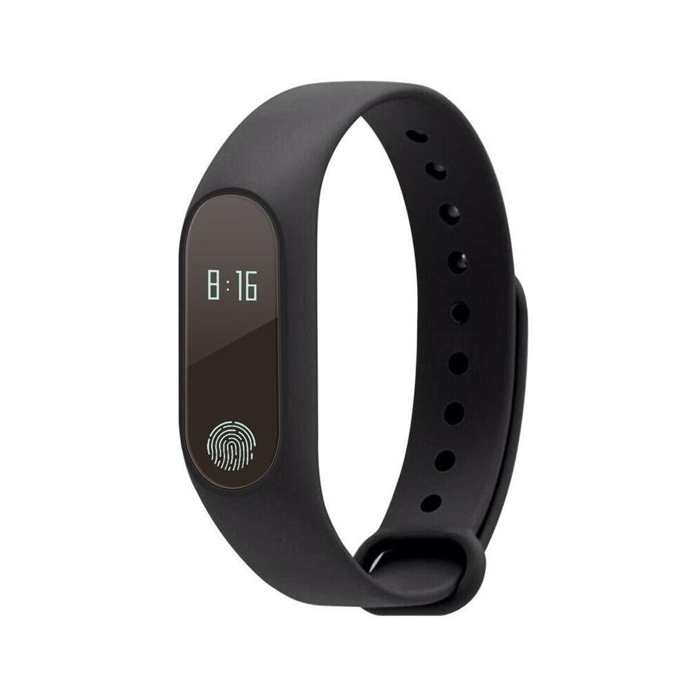 M2 Bracelet intelligent avec moniteur de fréquence cardiaque pression artérielle IP67 Fitness Tracker Bluetooth SmartBand pour téléphone Android iOS